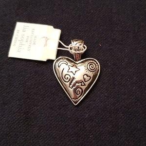 Lia Sophia heart pendant